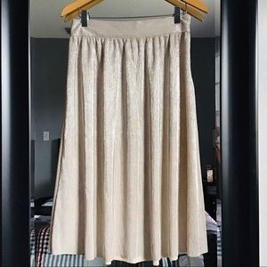 Who What Wear metallic pleated skirt